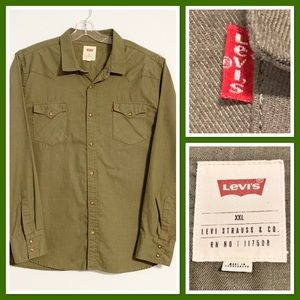 Levi's Western Relaxed Button Down Shirt XXL